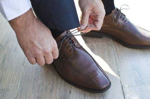 靴下を履いた人
